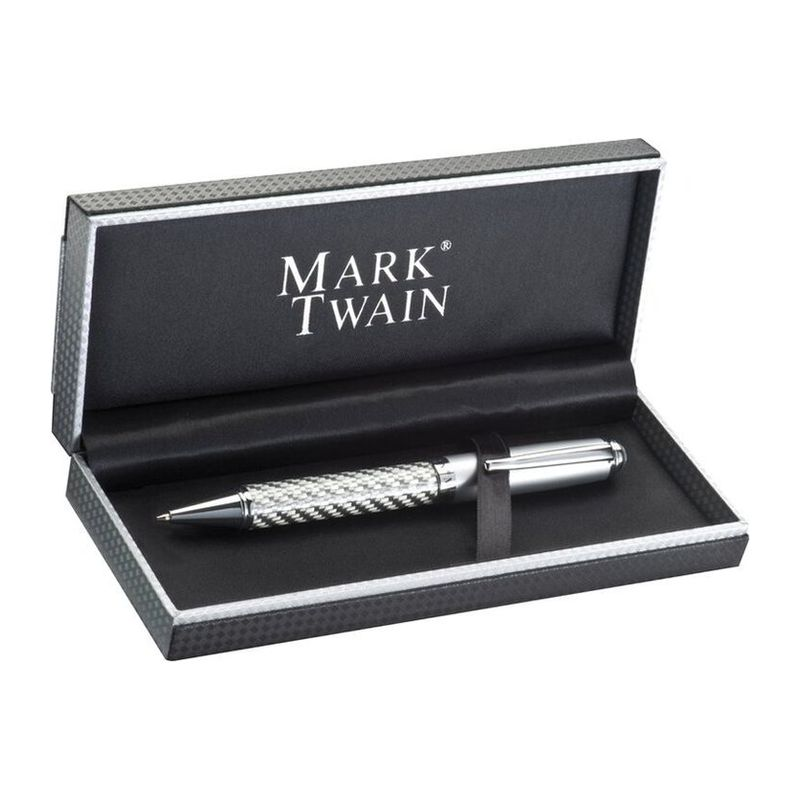 Mark Twain ball pen in carbon design