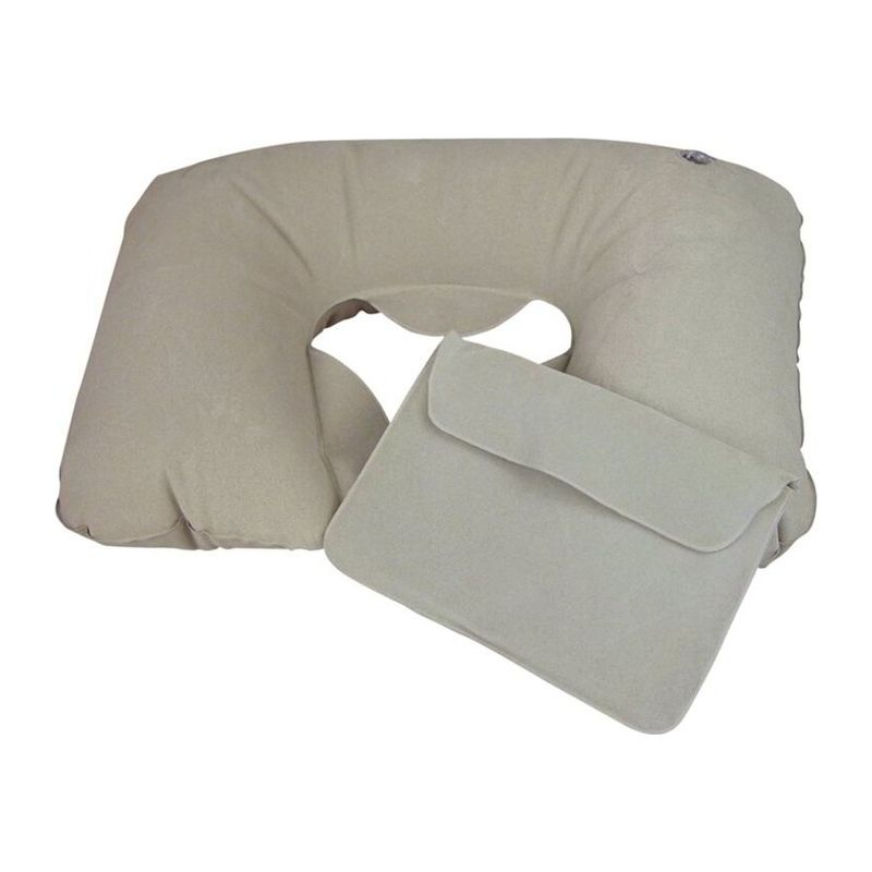 Inflatable soft travel pillow