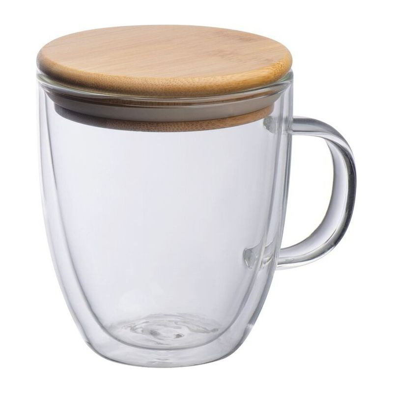 Double-walled glass with handle
